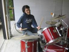 I also play drums!