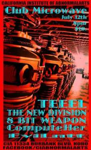 Club Microwave Synth-wave Summer is July 12th w/ Teeel/ The New Division/ 8 Bit Weapon/ ComputeHer/ EviLntt/ See you there!!!